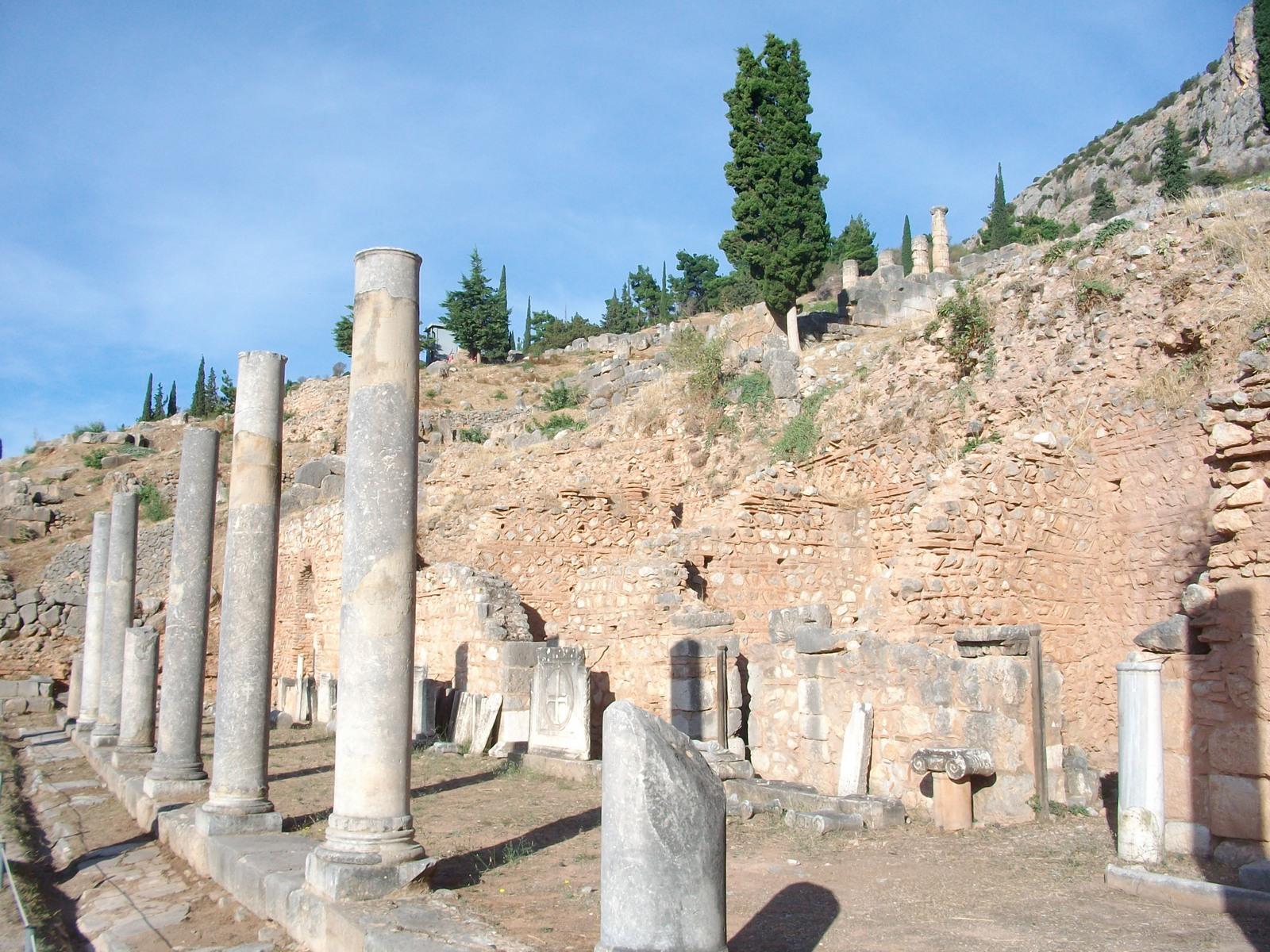 Delphi Ruins Pillars - Grounded Traveler