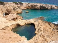 Coastal Hole, Koufonisia, Greece