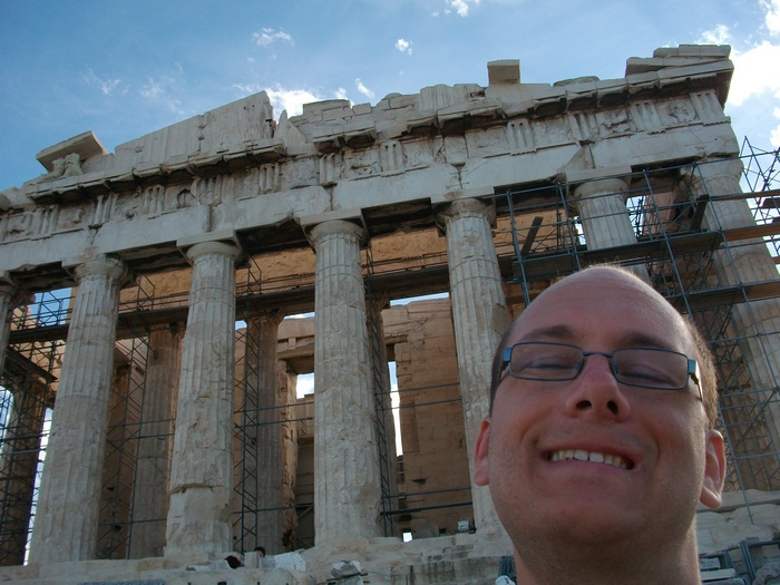 Athens, goofy with ruins.
